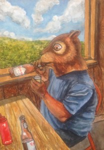 squirrel- beer
